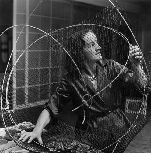Ida Kar, Dame Barbara Hepworth at work on thearmature of a sculpture in the Palais de Danse, 1961 © National Portrait Gallery, London