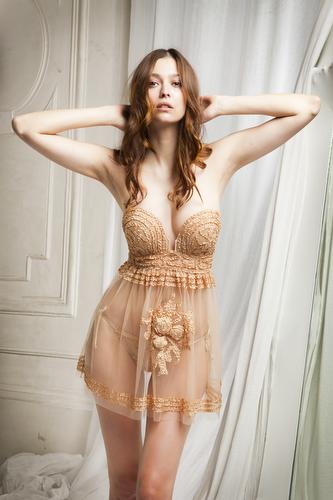 Morgane Dubled indossa la collezione Jean Paul Gaultier-La Perla