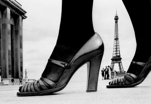 """FRANK HORVAT  """"Shoe and Eiffel Tower D"""", Paris, 1974, courtesy Photographica Fine Art Gallery, Lugano"""
