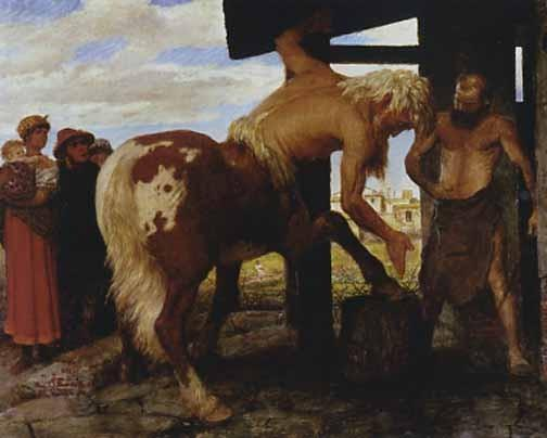 arnold_bocklin_centaur_village_blacksmiths_print