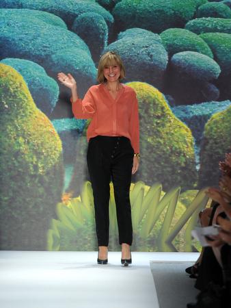 Amy Smilovic walks the runway at the Tibi Spring 2011