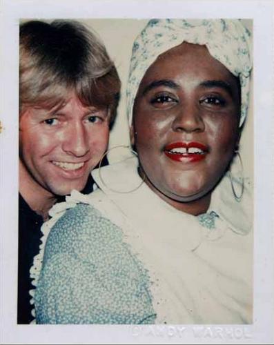 Andy Warhol, Mamie TK, anni '70, color Polaroid, pezzo unico, @Galleria Doozo