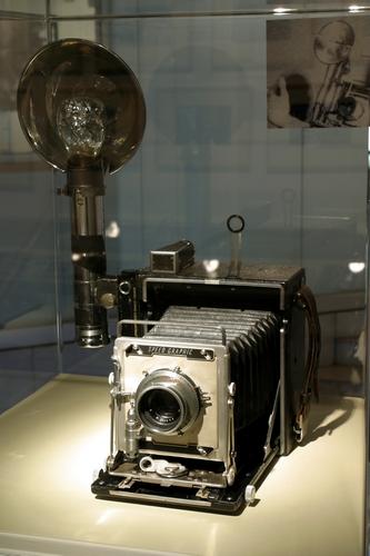 Appareil photo graflex utilisé par Stanley Kubrick lorsqu'il était photographe à Look. Photographe : Uwe Dettmar © Deutsches Filminstitut, Frankfurt